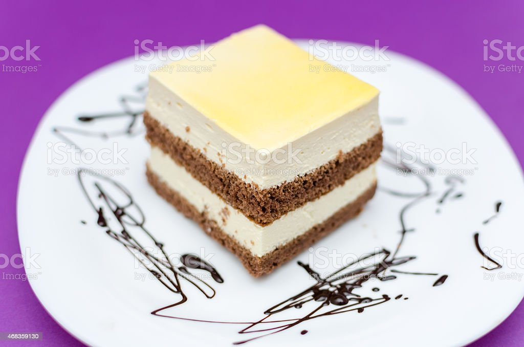 Peace of Cream Cake royalty-free stock photo