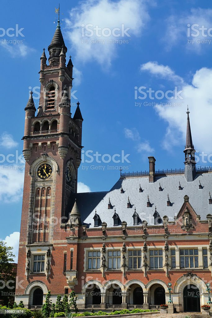 Peace Palace in The Hague royalty-free stock photo