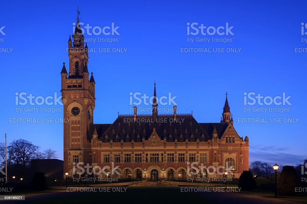 Peace Palace in The Hague stock photo