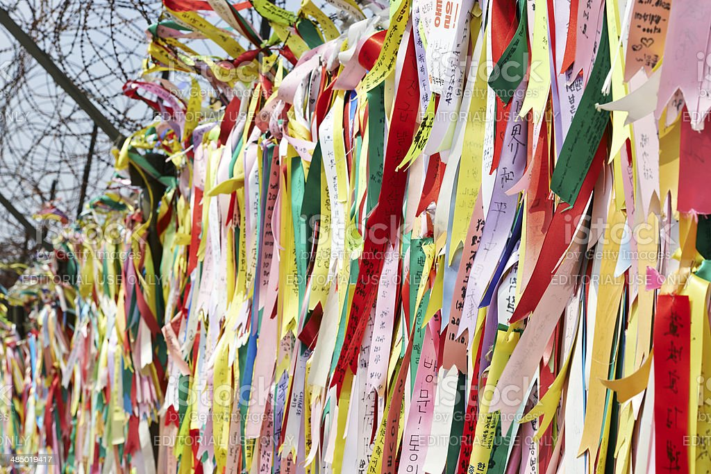 Peace Ribbons stock photo
