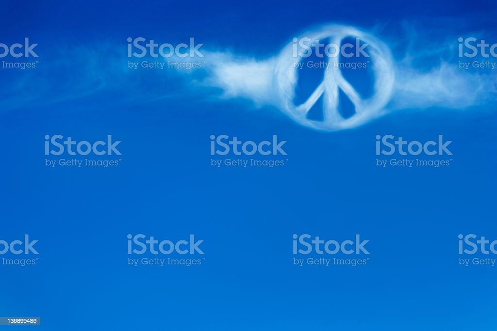XL peace sign cloud royalty-free stock photo