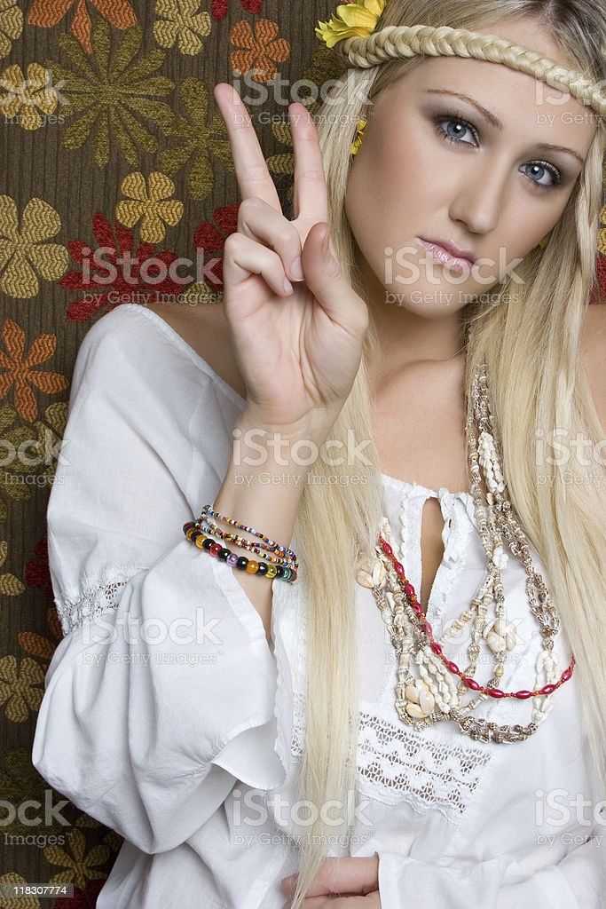Peace Sign Hippie royalty-free stock photo