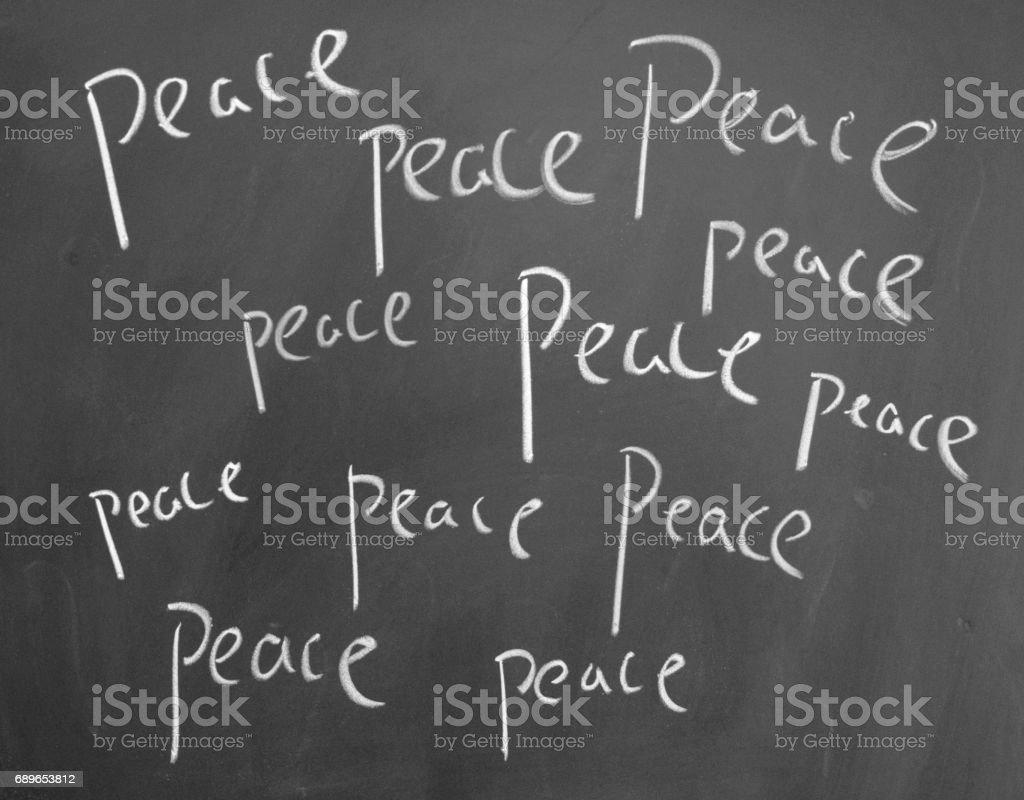 peace sign stock photo