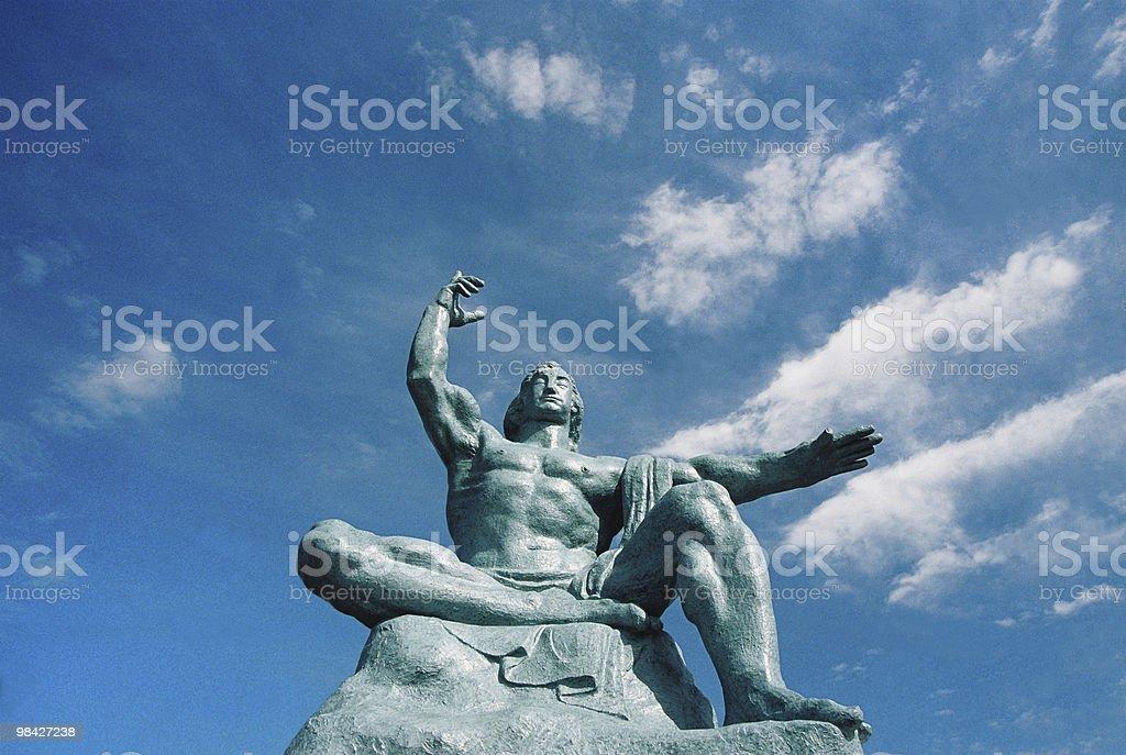 Statua di pace di Nagasaki, Giappone, foto stock royalty-free