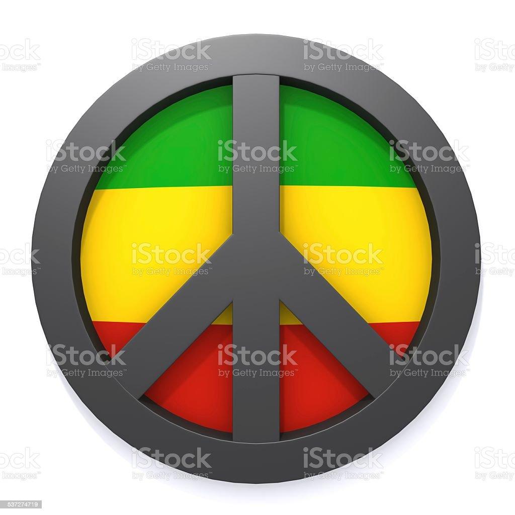 Peace symbol and rastafarian colors 3d illustration stock photo peace symbol and rastafarian colors 3d illustration royalty free stock photo biocorpaavc