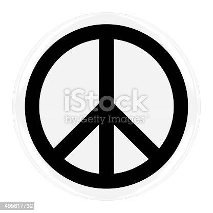 istock Peace Symbol Badge 495617732