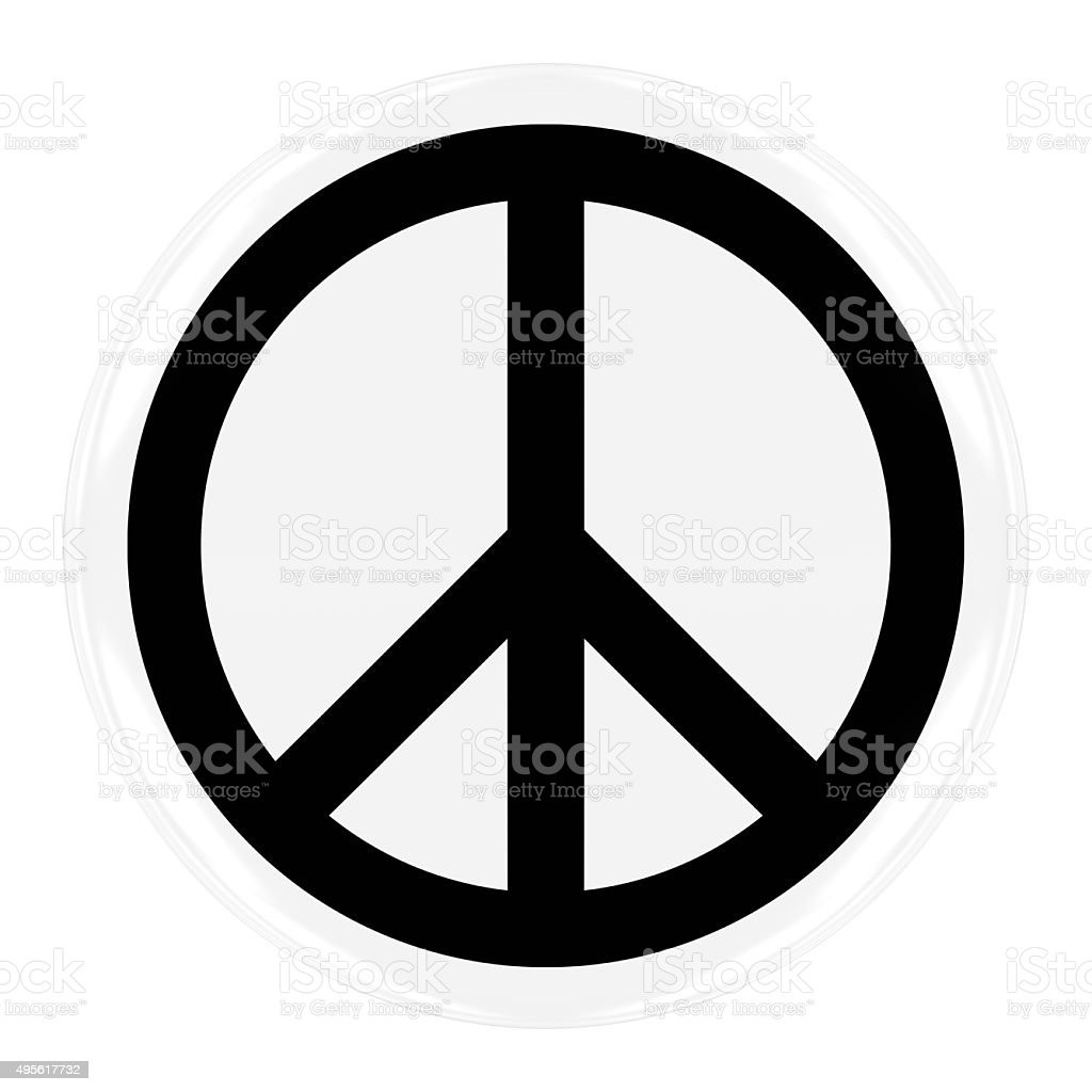 Peace Symbol Badge stock photo