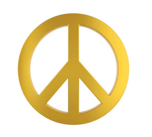 peace symbol isolated - symbols of peace stock pictures, royalty-free photos & images