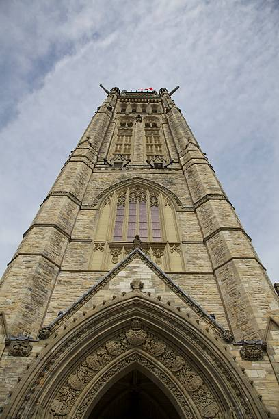 Peace tower At the Parliament Buildings stock photo