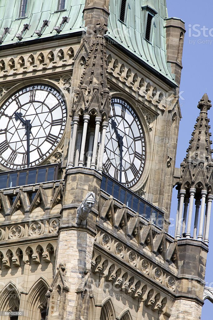 Peace Tower Clock royalty-free stock photo