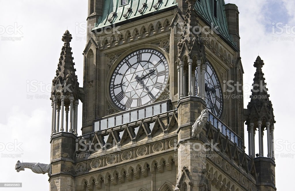 Peace Tower on Pariament Hill royalty-free stock photo