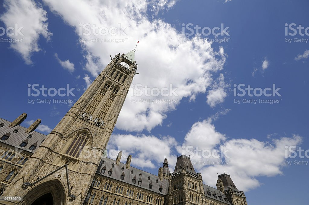 Peace Tower, Ottawa royalty-free stock photo
