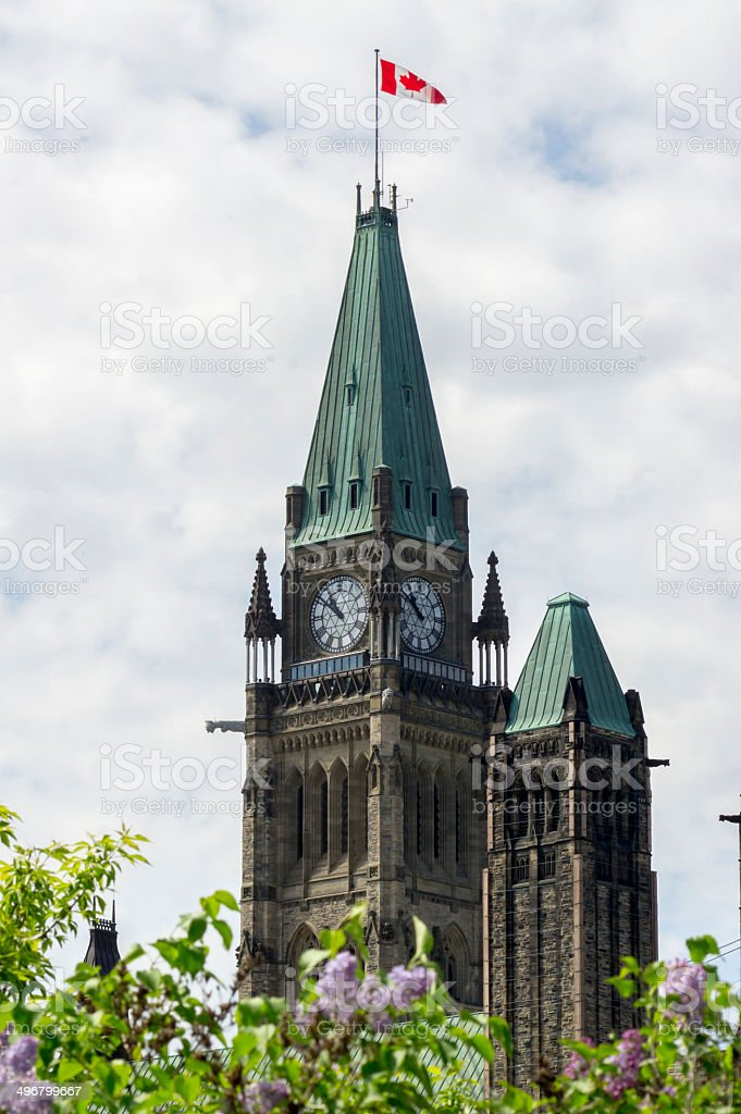 peace tower - portrait royalty-free stock photo