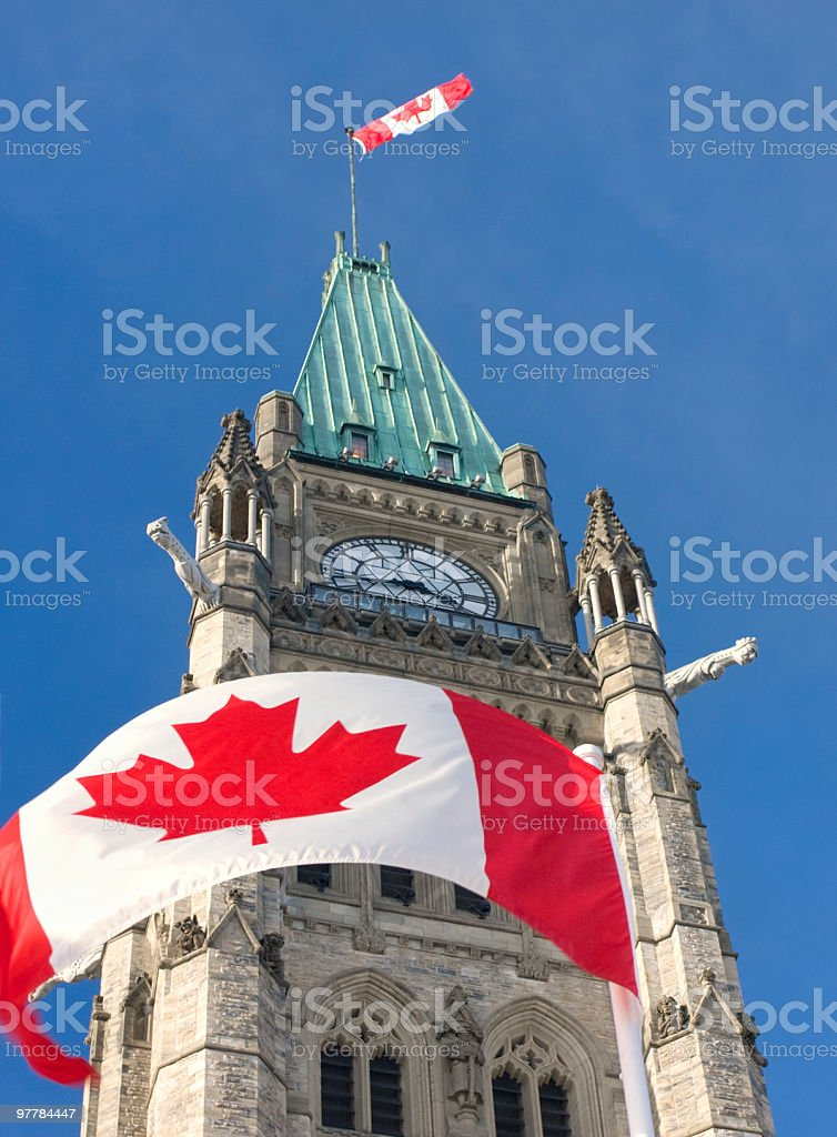 Peace Tower, The Parliament of Canada stock photo