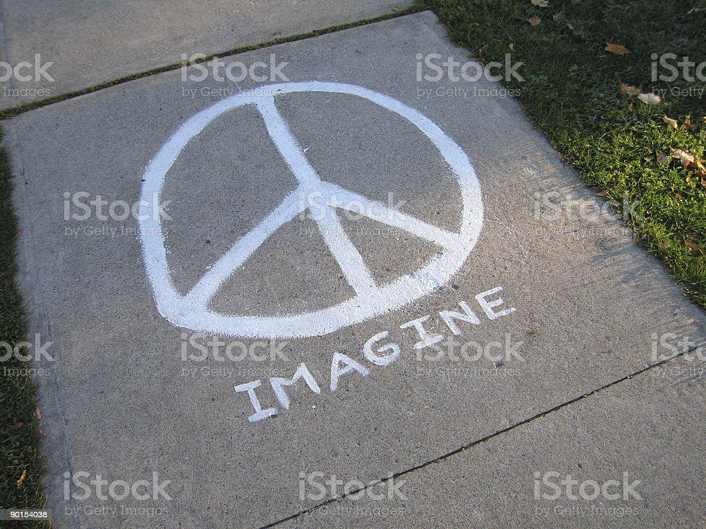 Peace Walk royalty-free stock photo