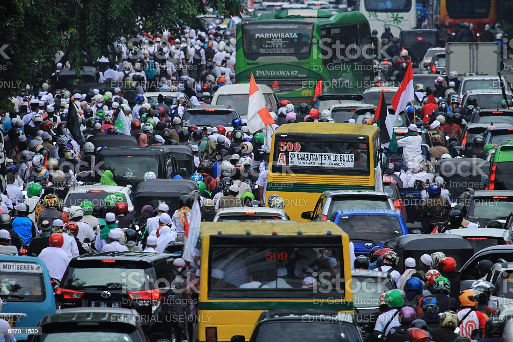 212 peaceful action, in Jakarta, Indonesia stock photo
