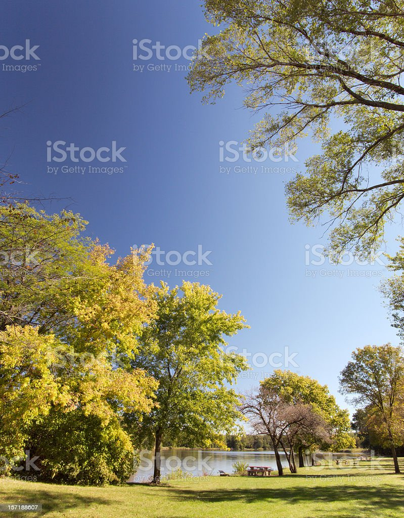 Peaceful Autumn Park royalty-free stock photo