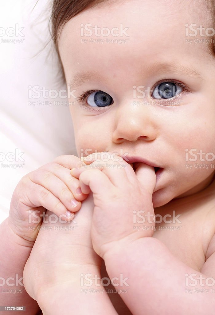 Peaceful baby royalty-free stock photo