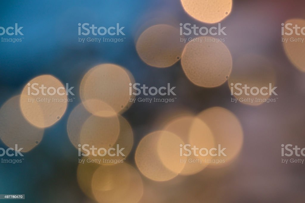 Peaceful blue lights blurred stock photo