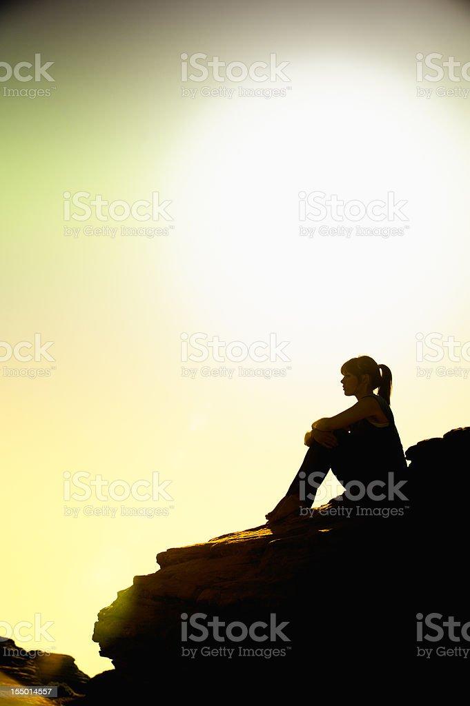 Peaceful Contemplation stock photo