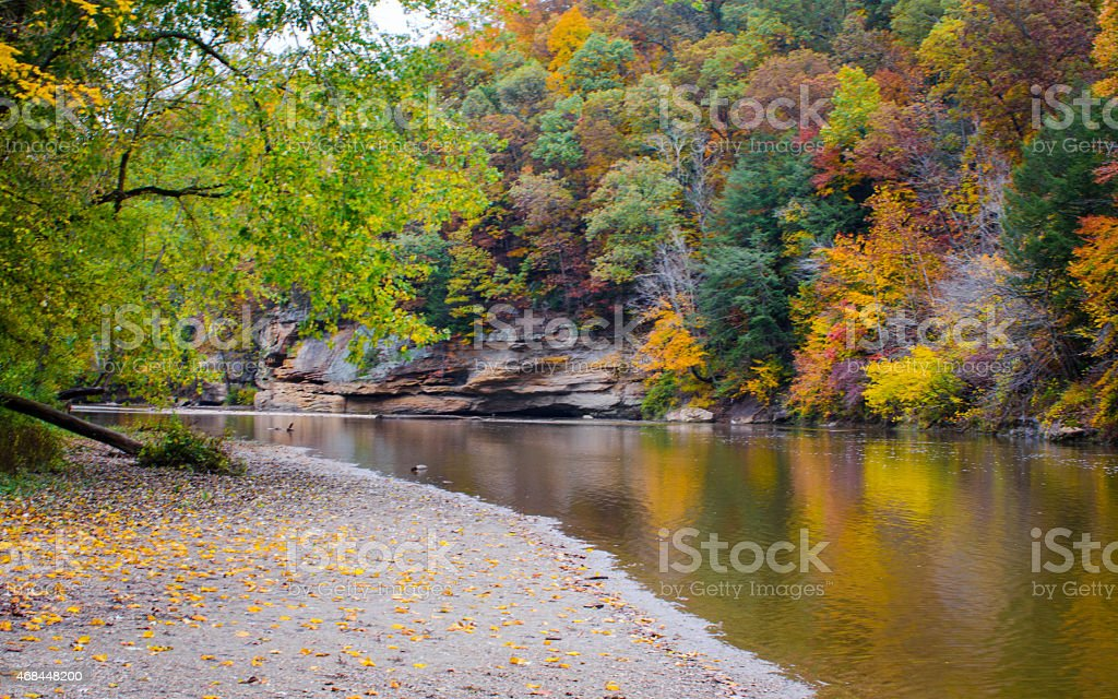 Peaceful flowing River stock photo