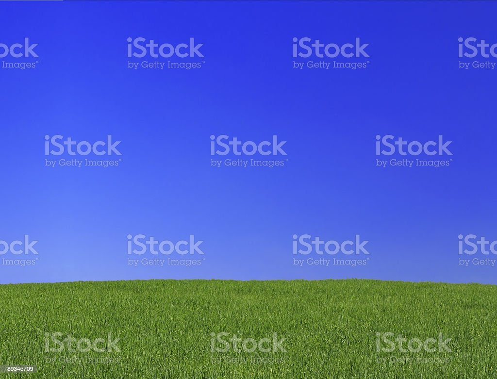 peaceful grassland scenic royalty-free stock photo