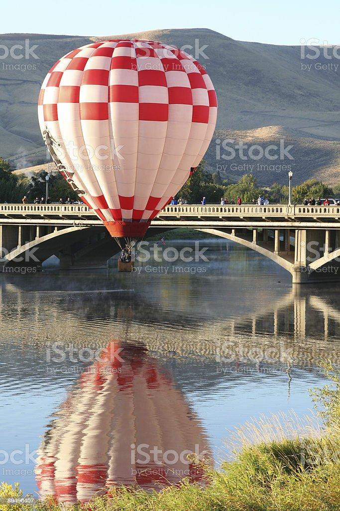 Spokojny Balon na ogrzane powietrze zbiór zdjęć royalty-free