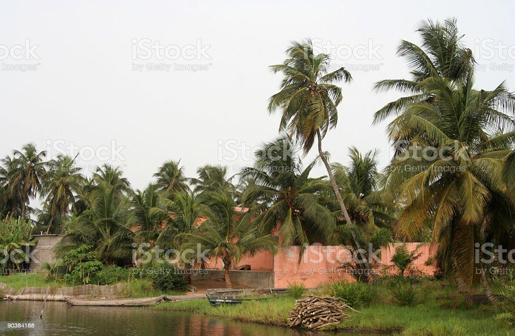 peaceful lagoon area stock photo