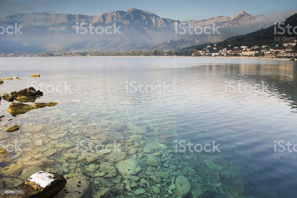 Peaceful morning on Thassos island stock photo