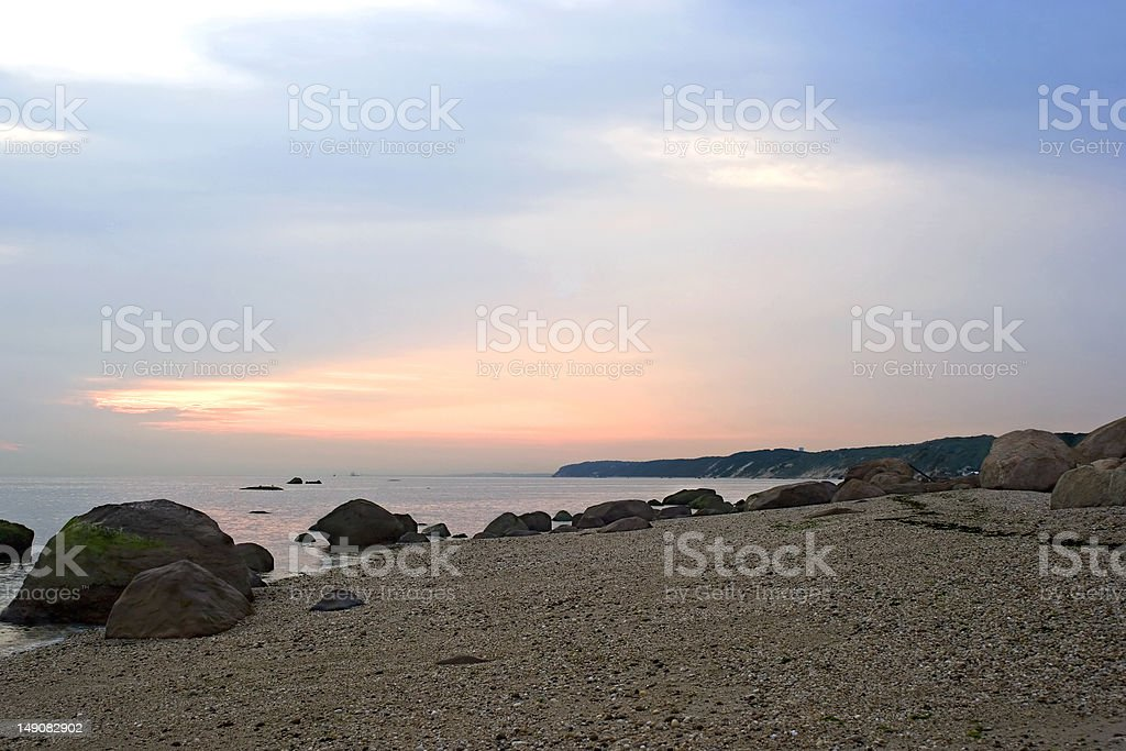 Peaceful Morning on the Long Island Sound stock photo