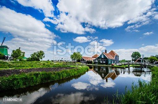 A Peaceful Neighborhood In Zaanse Schans, Netherlands