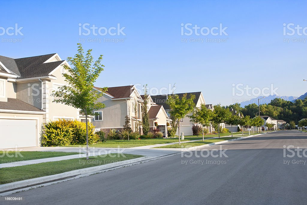 Peaceful Neighborhood stock photo