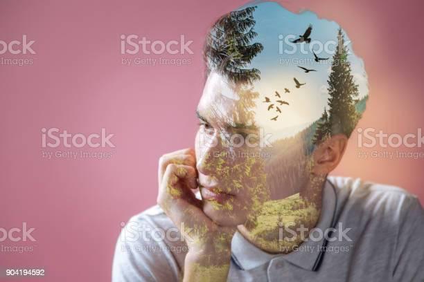 Peaceful nice man imagining nature landscape picture id904194592?b=1&k=6&m=904194592&s=612x612&h=7fcddc3cmlj0drxu2vr5xwkmrnuma48zvzlhardbkmu=