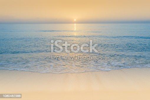 The morning sun rises over the Atlantic Ocean near St. Augustine, Florida.