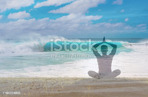 istock Peaceful relaxing mediation 1164224920