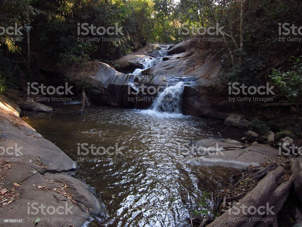 Peaceful river in Thailand stock photo