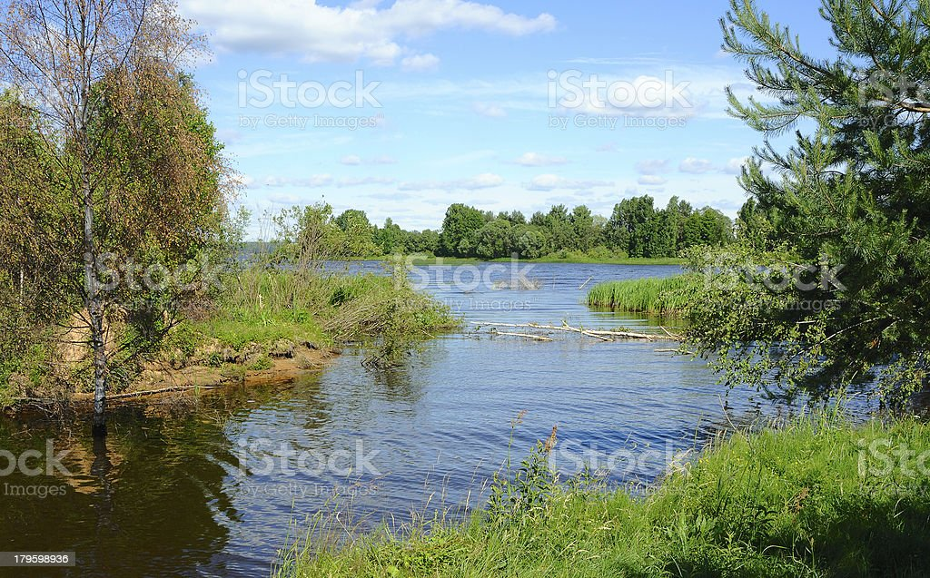 Peaceful river royalty-free stock photo