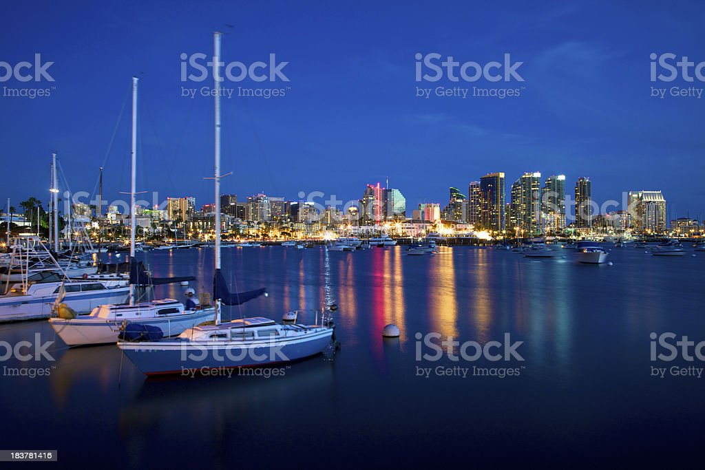 Peaceful San Diego Harbor royalty-free stock photo