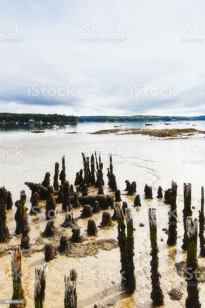Peaceful Seascape, Maine royalty-free stock photo