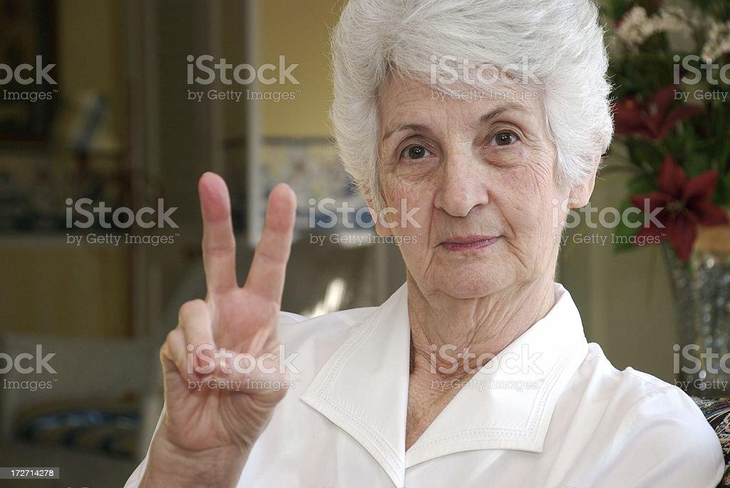 Peaceful Senior Citizen royalty-free stock photo