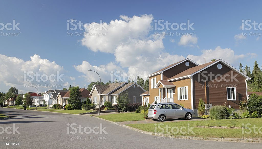 Peaceful Small Town Neighborhood stock photo