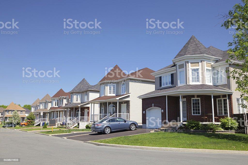 Peaceful Suburban Neighborhood royalty-free stock photo
