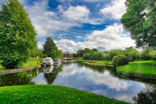 Eine friedliche Sommerszene am Lancaster-Kanal. – Foto