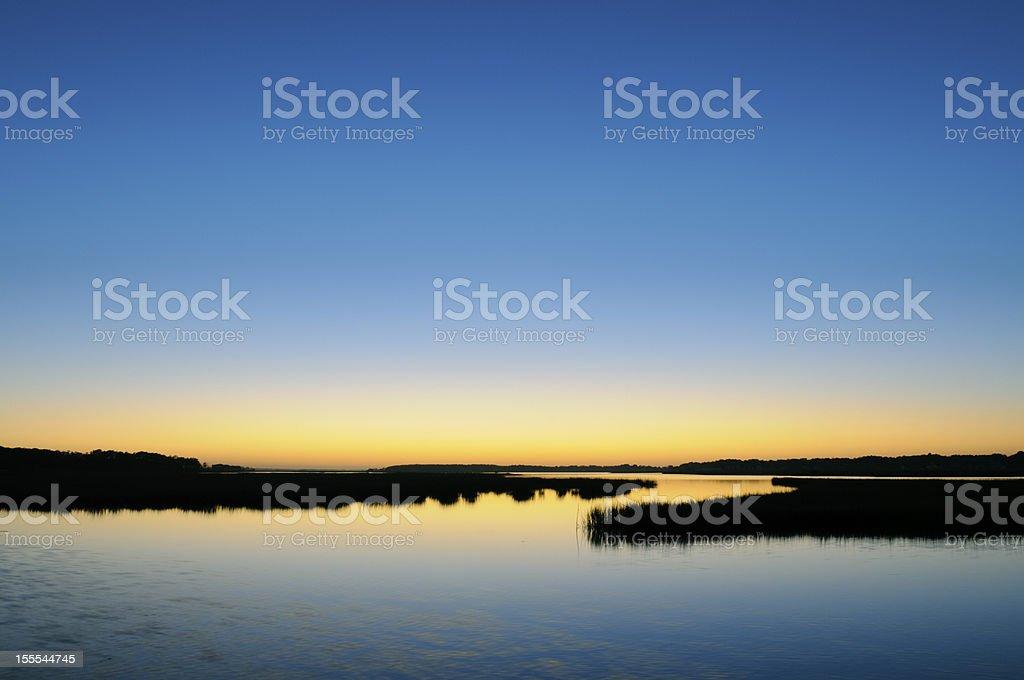 Peaceful Sunset at Chincoteague stock photo