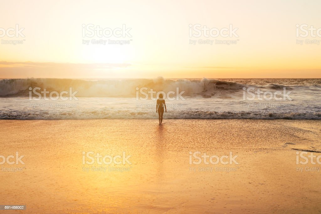 Peaceful vibes on the tides stock photo