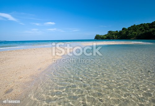 peaceful white sand beach at Kudi island,Thailand