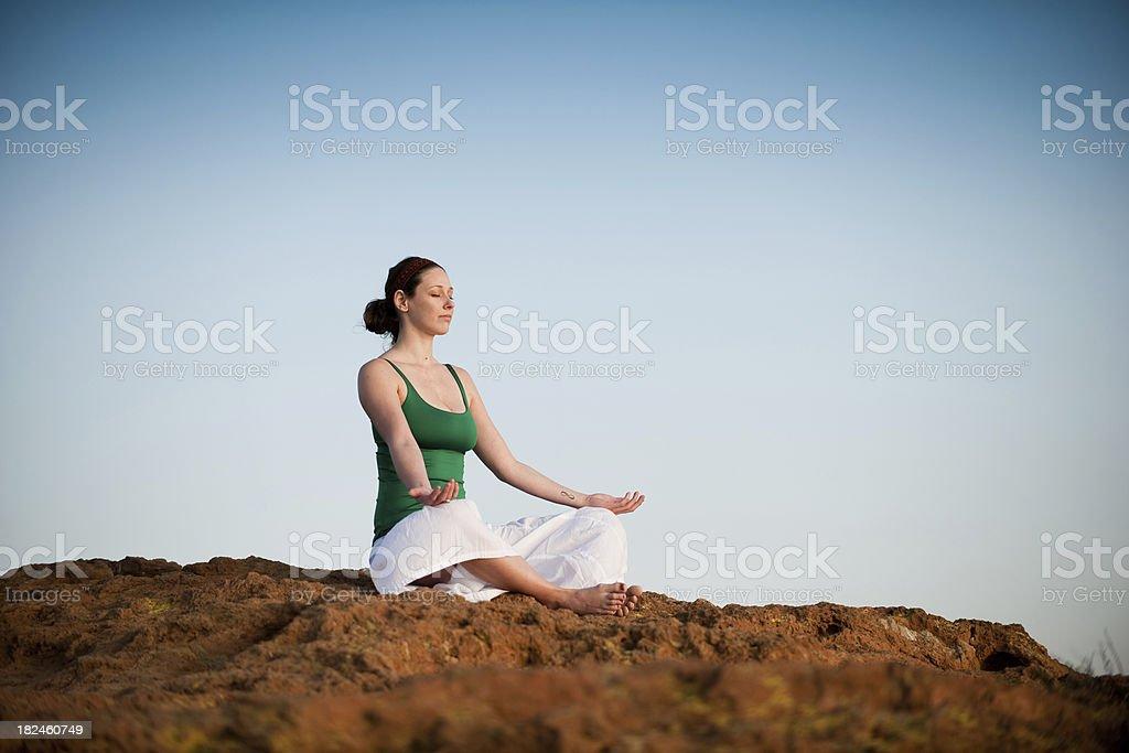 Peaceful Yoga royalty-free stock photo