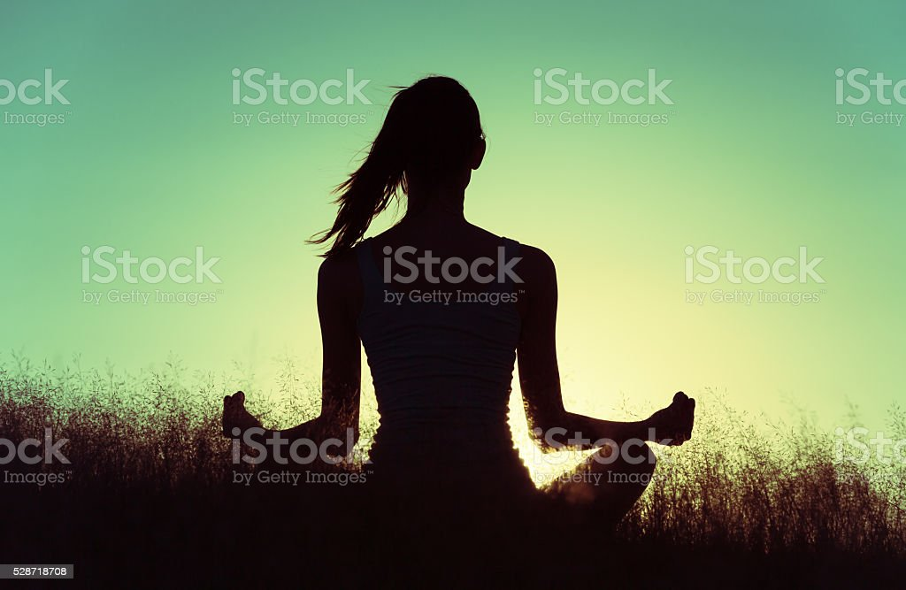 Peaceful yoga stock photo