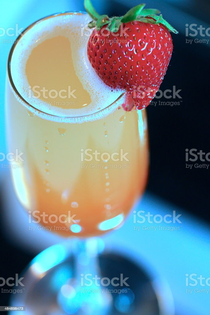 Peach Bellini in antique finish stock photo
