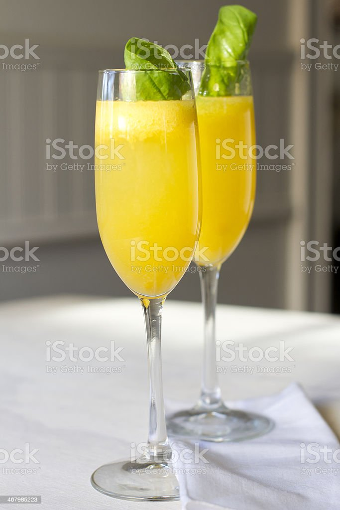 Peach 'Bellini' stock photo